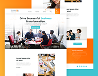 LeverUp - Software & Business Consulting Agency Website