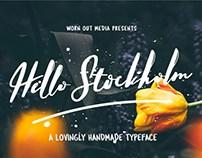 Hello Stockholm : Free Lovingly Handmade Font