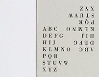 Letterpress Bookmark