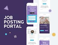 Job posting portal