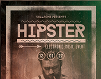 HIPSTER - Minimal flyer design vol002.