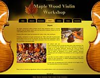 Maple Violin Workshop Web Design