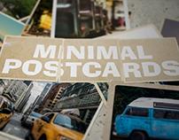Minimal Postcards Stop Motion
