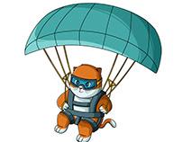 Paragliding cat