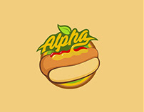 Alpha Dogs - Organic Vegan Hot Dogs - Brand Logo Design