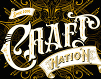 Craft Nation - handlettered logo