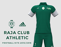 Raja Club Athletic(RCA), Adidas Football Kit 2015/2016