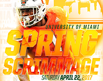 Miami Hurricanes Football Spring Scrimmage Graphic