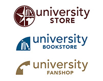 University Bookstore Concept Logo - 2015