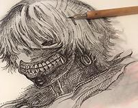 INKtober #31 (Mask) (2k18) - Kaneki Ken