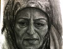 Faces from Syria sketch