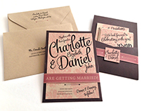 Rustic Bouquet Wedding Invitations