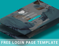 Free login page template