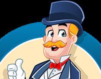 Sir Clean Pro Logo + Mascot