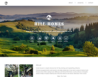 Real Estate Company Website Layout