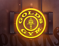 GOLD's GYM POSTERS designs