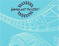 Cedar Point Advertisement: Wanna get twisted?