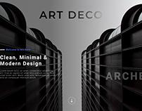 Art Deco Landing Page