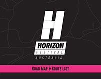 Horizon Festival Route Map