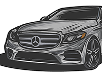 Vector Practice - Mercedes Benz made with a reference