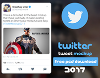 Twitter Tweet Mockup 2017 | FREE PSD DOWNLOAD