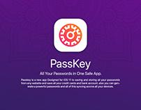 PassKey - iOS 11 App