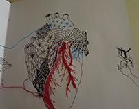 Cuaderno 2016/ tinta+hilos