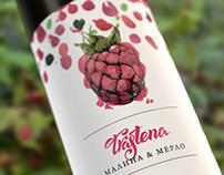 Trastena raspberry wine packaging
