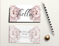 Elegant , modern business card