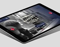 Barber Touch - Website tablet