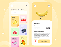 Fruits and Berries Shop - Mobile App