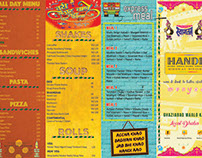 Menu for a Dhaba Themed Restaurant.