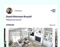Smart Home App screens