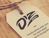 Logo Diz atelier lettering