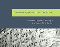 Origins of Type to 21st Century - Booklet