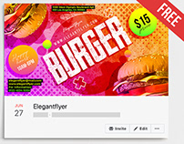 Burger – Free Facebook Cover Template in PSD + Post