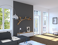 Modern Living Room Visualisation