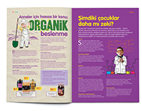Migros Mother&Baby Magazine Illustrations