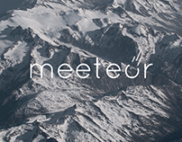 Meeteor app design and brand proposition