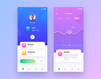 Tooth Brush App Design