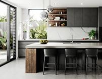 Visualization | Contemporary House | Kitchen