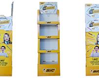 cardboard POS display for BiC
