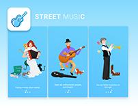 Street Music app design