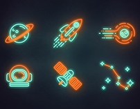 Neon Space Icon Series