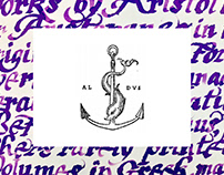 Aldus Manutius. Biography. Calligraphy.