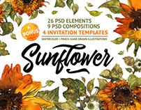 """Sunflower"" illustrations"