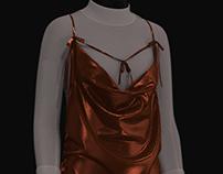 3D Cowlneck Dress