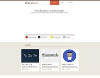 Personal Website Mockups