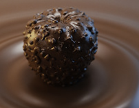 Apple chocolate Concept 3D Visualization