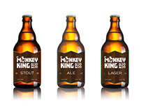 Monkey King Beer Logo + Label